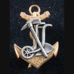 2° RIMA : Insigne métallique du DAMI MONGO TCHAD du 2° Régiment d'Infanterie de Marine Fraisse (L201)