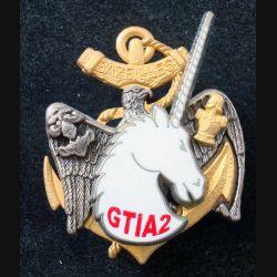 3° RIMA : Insigne métallique du GTIA 2 du 3° Régiment d'Infanterie de Marine Boussemart (L203)