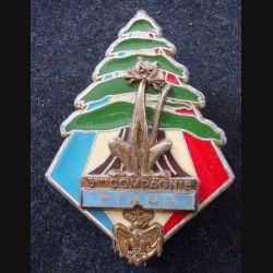 3° RIMA : Insigne métallique de la 3° Cie du 3° Régiment d'Infanterie de Marine FINUL de fabrication Delsart (L202)