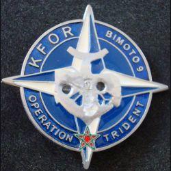 3° RIMA : Insigne métallique du 3° Régiment d'Infanterie de Marine BIMOTO 9 KFOR Sheli 51 mm (L203)