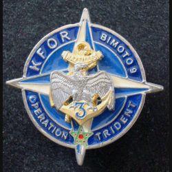 3° RIMA : Insigne métallique du 3° Régiment d'Infanterie de Marine BIMOTO 9 KFOR Sheli 36 mm (L203)