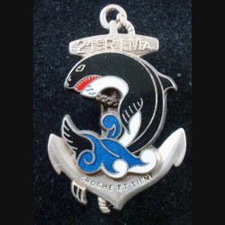 21° RIMa : 21° Régiment d'Infanterie de Marine de fabrication Boussemart G. 4155 prestige argenté (L 199)