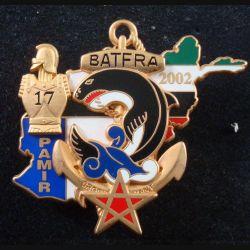 21° RIMa : Insigne métallique du BAT FRA N° 1 21° Régiment d'Infanterie de Marine A. Bertrand (L 199)