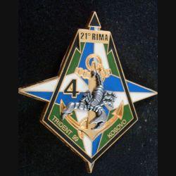 21° RIMa : 4° Compagnie du 21° Régiment d'Infanterie de Marine Kosovo 1999 (L 198)