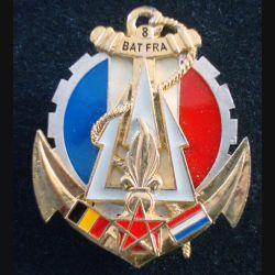 21° RIMa : Insigne métallique du BATFRA N° 8 21° Régiment d'Infanterie de Marine SHELI (L 199)