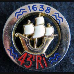 43° RI : 43° régiment d'infanterie de fabrication Delsart Sens H. 100