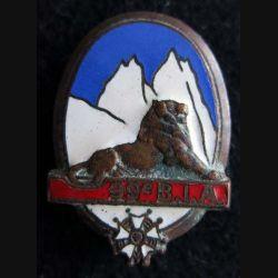 99° BIA : Insigne métallique du 99° bataillon d'infanterie alpine de fabrication Drago Olivier Métra H. 285 en émail