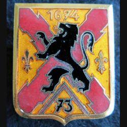 73° RID: insigne métallique du 73° régiment d''infanterie divisionnaire de fabrication Arthus Bertrand Paris émail