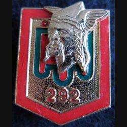 292° RID: insigne métallique du 292° régiment d''infanterie divisionnaire de fabrication Drago Paris