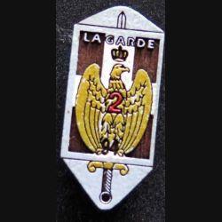 94° RI : insigne de la 2° compagnie du 94° régiment d'infanterie en bois peint attache pin's