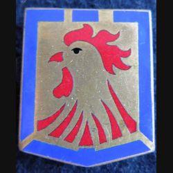 12° DI : Insigne métallique de la 12° division d'infanterie de fabrication Drago Paris G. 1278 en émail dos lisse doré
