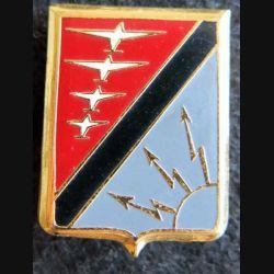 BA 902 : insigne métallique de la base aérienne 902 de Contrexeville de fabrication Drago Paris