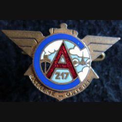 CA 217 : Insigne du Centre Administratif 217 Extrême Orient de fabrication Augis émail
