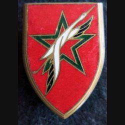 FF MAROC : insigne métallique des forces françaises au Maroc fabrication Drago PN déposé émail