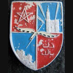 2° DIM : Insigne métallique de la 2° division infanterie marocaine alu peint