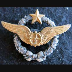 BREVET AIR : insigne métallique de brevet de mécanicien volant de l'armée de l'air Drago O. Métra