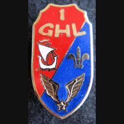 1° GHL : insigne du 1° groupe d'hélicoptères légers de fabrication Drago  G. 2593