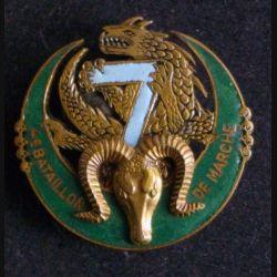 7° RTA : 4° bataillon de marche du 7° régiment de tirailleurs algériens Mardini numéroté N° 615  émail (L 10)