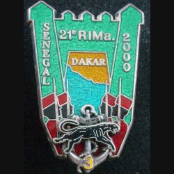 21° RIMA : 3° Cie du 21° RIMA Sénégal 2000 Boussemart translucide argenté ancre argentée (L 29)