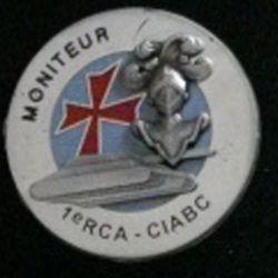 1° RCA CIABC : Moniteur 1° régiment de chasseurs d'Afrique centre d'instruction ABC Canjuers (L 7)