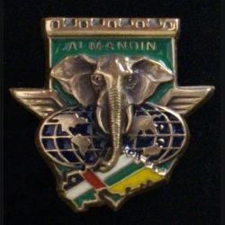 17° RGP : CA du 17° régiment du génie parachutiste RCA opération Almandin en bronze massif (L 31)