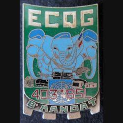 517° RT : ECQG du 403° Bataillon de Soutien Logistique de la FORPAINU BALME numéroté 380 (L116)