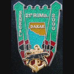 21° RIMA : 3° Cie du 21° Régiment d'Infanterie de Marine Sénégal 2000 Boussemart prestige doré (L 29)