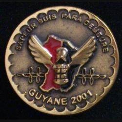 17° RGP 1° CIE GUYANE : 1° compagnie du 17° régiment du génie parachutiste Guyane 2001 numéroté 156 (L 31)
