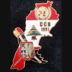 7° RCH : Compagnie de combat blindé CCB du 7° chasseurs au Liban en 1991  J.Y Ségalen en émail (L88)