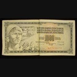 Billet de banque de 1000 Dinars yougoslaves