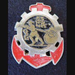 53° CAQG : 53° Compagnie Auto de QG fab locale peinte d'Extrême Orient métal épais sans attache (L222)