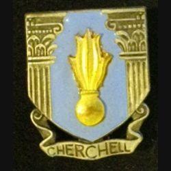 EMIC : insigne métallique de l'école militaire d'infanterie de Cherchell en émail