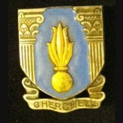 EMIC : insigne métallique de l'école militaire d'infanterie de Cherchell de fabrication Béranger H. 242 en émail