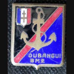 1° DFL BM2 : 2° bataillon de marche Oubangui de la 1° division française libre Drago émail (L 208)