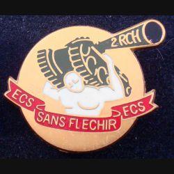 2° RCH : Escadron de commandement et des services sans fléchir du 2° régiment de chasseurs Balme