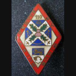 110° RI : 110° régiment d'infanterie losange qui s' frotte s'y pique Chobillon éclat d'émail (L 95)