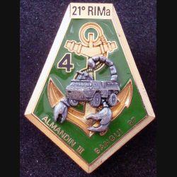 21° RIMa : 4° Compagnie du 21° Régiment d'Infanterie de Marine ALMANDIN III BANGUI 97 DELSART (L 29)