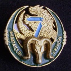 7° RTA : 4° bataillon de marche du 7° régiment de tirailleurs algériens Fab locale Extrême Orient peint (L 10)