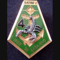 21° RIMa : 4° Compagnie du 21° Régiment d'Infanterie de Marine IFOR 1996 DELSART numéroté 298 (L 29)