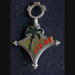112° QG : 112° QG compagnie de quartier général Drago Paris G. 1611 en émail sable doré (L 15)