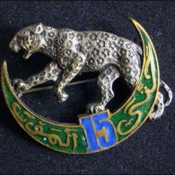 15° RTA : 15° régiment de tirailleurs algériens Delande non mentionné de 48 mm de largeur en émail (L 11)