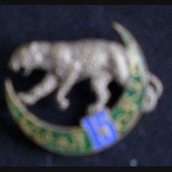 15° RTA : 15° régiment de tirailleurs algériens Delande non mentionné de 39 mm de largeur en émail (L 11)