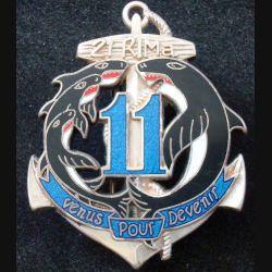 21° RIMa : 11° Compagnie du 21° Régiment d'Infanterie de Marine BOUSSEMART prestige argenté (L 29)
