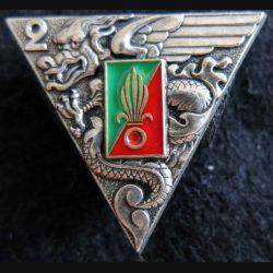 2° REP : insigne du 2° régiment étranger parachutiste de fabrication Delsart G.1948