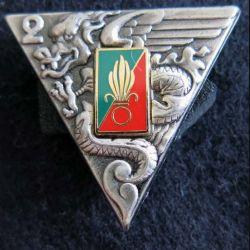 2° REP : insigne du 2° régiment étranger parachutiste réalisé par Arthus Bertrand pour les Editions Atlas