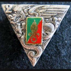 2° REP : insigne du 2° régiment étranger parachutiste de fabrication Drago Paris G.1948 émail épingle cassée