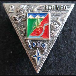 2° REP : insigne du 2° régiment étranger parachutiste BAT INF 6 IFOR Fia