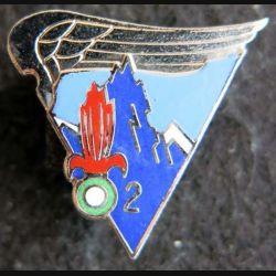 2° REP : insigne en réduction de la 2° compagnie du 2° régiment étranger parachutiste attache pin's