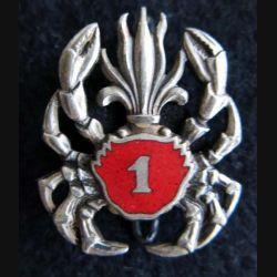 1° REC  : Insigne métallique du 1° groupement amphibie du 1° Régiment étranger de cavalerie de fabrication Drago émail