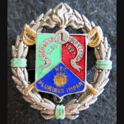 1° REC : insigne métallique du 1° régiment étranger de cavalerie de fabrication Arthus Bertrand en émail